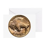 Nickel Buffalo Greeting Cards (Pk of 10)