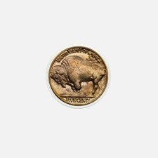 Nickel Buffalo Mini Button