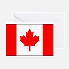 Canadian Flag Greeting Card