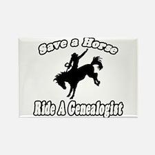 """Save Horse, Ride Genealogist"" Rectangle Magnet"