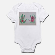 In Daddy's Hands by Erin Page Infant Bodysuit