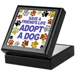 Save life, dog. Keepsake Box