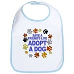 Save life, dog. Bib