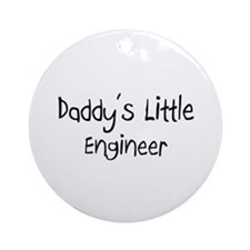 Daddy's Little Engineer Ornament (Round)