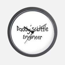 Daddy's Little Engineer Wall Clock