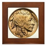 Nickel Indian Head Framed Tile