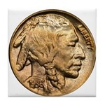 Nickel Indian Head Tile Coaster
