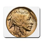 Nickel Indian Head Mousepad