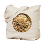 Nickel Indian Head Tote Bag