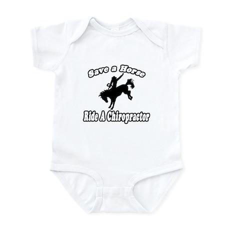 """Save Horse, Ride Chiropractor"" Infant Bodysuit"