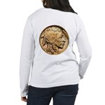 Nickel Indian Head Women's Long Sleeve T-Shirt