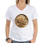 Nickel Indian Head Women's V-Neck T-Shirt