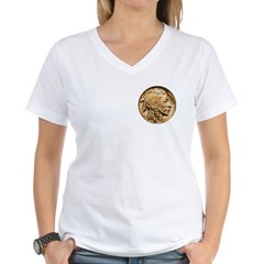 Nickel Indian Head Women's V-Neck T-Shirt