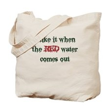 Red Water Tote Bag