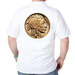 Nickel Indian Head Golf Shirt