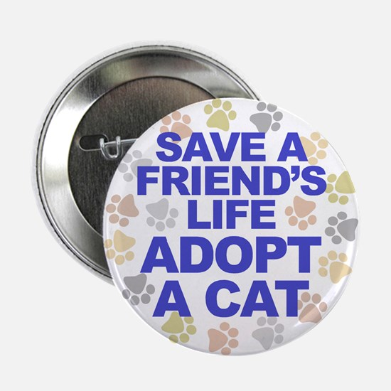 Save life, cat. Button