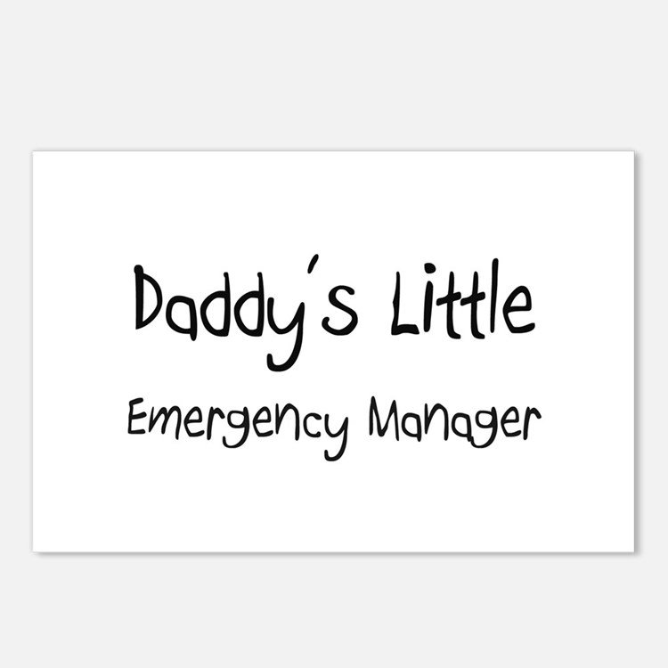 Daddy's Little Emergency Manager Postcards (Packag