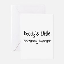 Daddy's Little Emergency Manager Greeting Cards (P
