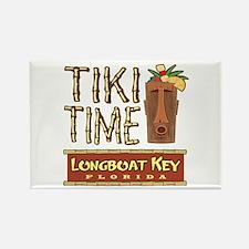 Longboat Key Tiki Time - Rectangle Magnet