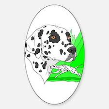Dalmatian Oval Decal