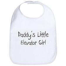 Daddy's Little Elevator Girl Bib