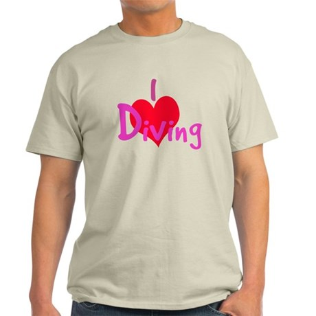 I Love Diving Light T-Shirt