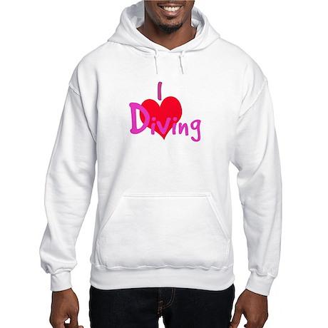 I Love Diving Hooded Sweatshirt