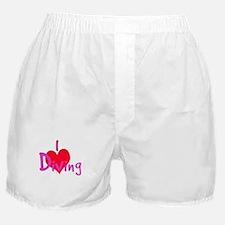 I Love Diving Boxer Shorts