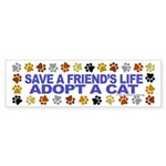 Save life, dog. Bumper Sticker