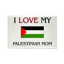 I Love My Palestinian Mom Rectangle Magnet