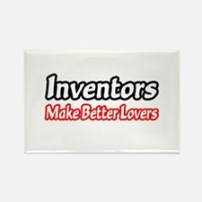"""Inventors = Better Lovers"" Rectangle Magnet"
