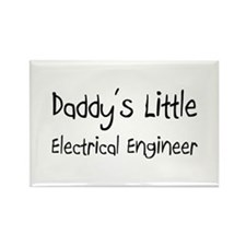 Daddy's Little Electrical Engineer Rectangle Magne