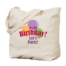 Happy Birthday Balloons Tote Bag