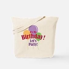Happy Birthday Balloons Tote Bag
