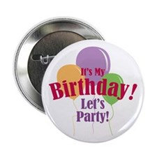 """Happy Birthday Balloons 2.25"""" Button (100 pack)"""