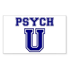 Psych U Rectangle Sticker 10 pk)