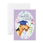 Airedale Graduate Greeting Card