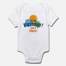 Birthday Party Balloons Infant Bodysuit