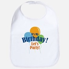 Birthday Party Balloons Bib