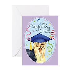 Yorkie Graduate Greeting Card