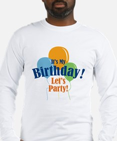 Birthday Party Balloons Long Sleeve T-Shirt