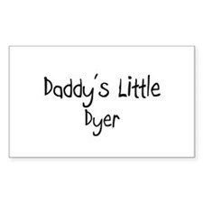 Daddy's Little Dyer Rectangle Decal