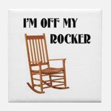 OFF MY ROCKER Tile Coaster