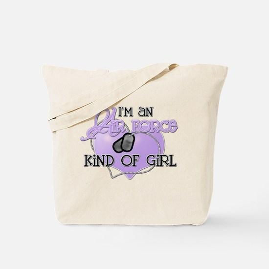 Air Force Kind of Girl Tote Bag