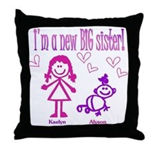 Kaelyn and Alyson Shirt Throw Pillow