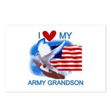 Love My Army Grandson Postcards (Package of 8)