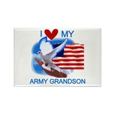 Love My Army Grandson Rectangle Magnet