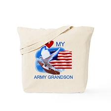 Love My Army Grandson Tote Bag