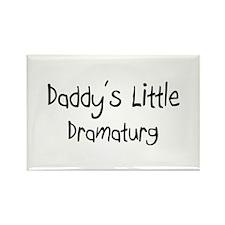 Daddy's Little Dramaturg Rectangle Magnet
