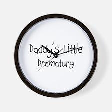 Daddy's Little Dramaturg Wall Clock